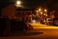住房地区夜间 图库摄影
