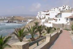住房开发的Puerto领域风景视图,利马 免版税库存图片