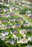 住房开发鸟瞰图在夏洛特,北卡罗来纳 免版税库存照片