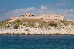 住房的建筑在沿海马赛,法国的 免版税库存图片