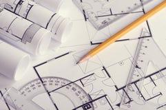 住房建造计划 库存照片