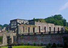 住所住宅的废墟在cistercian修道院Villers la Ville,比利时的 图库摄影