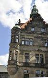 住所从德累斯顿的宫殿视图在德国 免版税库存图片