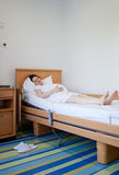 住医院的妇女 库存照片