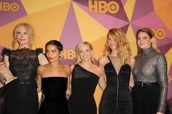 佐伊克拉维茨,丽丝・韦花丝潘、萝拉・邓恩、Shailene Woodley和妮可・基曼 库存图片