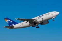 佐田国际性组织空中客车A310 库存照片