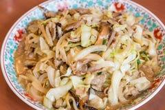 佐良乌龙面-传统长崎油煎的面条 免版税库存图片