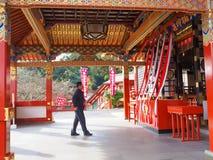 佑德在英雄传奇的inari寺庙,日本 免版税图库摄影
