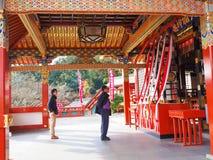 佑德在英雄传奇的inari寺庙,日本 免版税库存图片