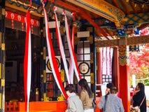佑德在英雄传奇的inari寺庙 图库摄影
