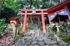 佑德Inari寺庙是在kyushuu日本的神道圣地 库存图片