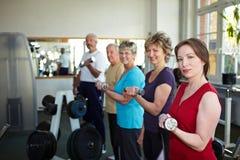 体操增强的人重量 库存图片