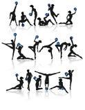 体操收集的女孩 免版税图库摄影