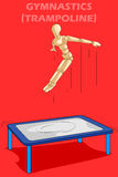 体操的概念与木人的时装模特的 库存图片