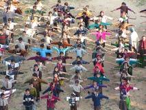 体操课程 免版税库存图片