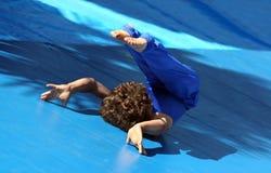 体操运动员一点 库存照片