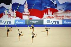 体操运动员介绍乌兹别克斯坦 库存图片