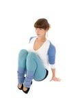 体操运动员妇女年轻人 免版税库存照片