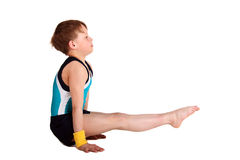 体操运动员年轻人 免版税库存图片