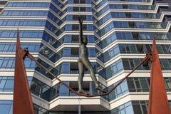 体操运动员的雕塑 库存照片