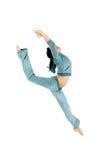 体操运动员舒展 免版税库存照片