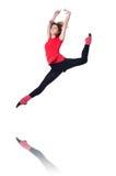 年轻体操运动员行使 免版税库存图片