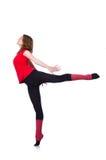 年轻体操运动员行使 免版税库存照片