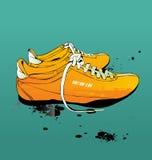 体操鞋运动鞋向量 免版税图库摄影