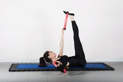 体操pilates 免版税库存图片