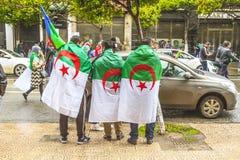 Algerians manifesting against president Abdelaziz Bouteflika