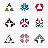 体育传染媒介体育商标 抽象略写法组织 竞争的象 被设置的运动标志 三角奥林匹克 向量例证