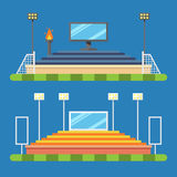 体育体育场平的设计  库存例证