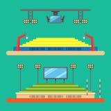 体育体育场平的设计  免版税库存照片