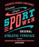 体育力量字体 免版税图库摄影