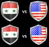 体育和军事交锋在国家之间 库存例证