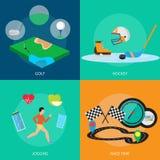 体育和奖概念设计 免版税库存图片