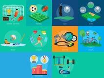 体育和奖概念设计 免版税图库摄影