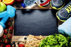 体育和饮食框架 库存图片