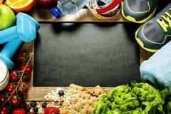 体育和饮食框架 免版税库存照片