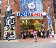 体育在利兹市中心指挥商店 免版税库存照片
