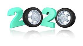 体育在无限自转的轮子2020设计 皇族释放例证