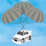 体育在降伞的出租汽车计划 免版税图库摄影