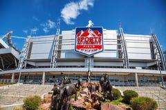 体育在高的英里的当局领域在丹佛 免版税库存图片