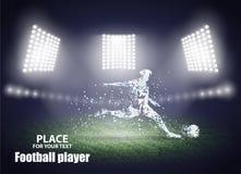 体育场光 行动设计 10个球eps橄榄球反撞力球员 也corel凹道例证向量 库存图片