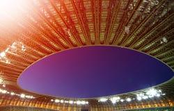 体育场和蓝天的屋顶 库存图片