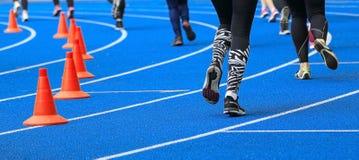 体育场和运动员 免版税库存图片