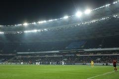 体育场的全景, UEFA欧罗巴16在发电机之间的秒腿比赛同盟回合和埃弗顿 库存照片