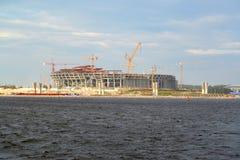 体育场的建筑橄榄球俱乐部& x22的; Zenit& x22;在Krestovsky海岛上 圣彼德堡 库存图片