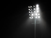 体育场聚光灯塔 免版税库存图片