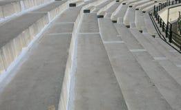 体育场行由混凝土制成 免版税库存照片